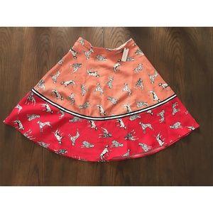 Anthropologie Dalmatian Skirt Size 14
